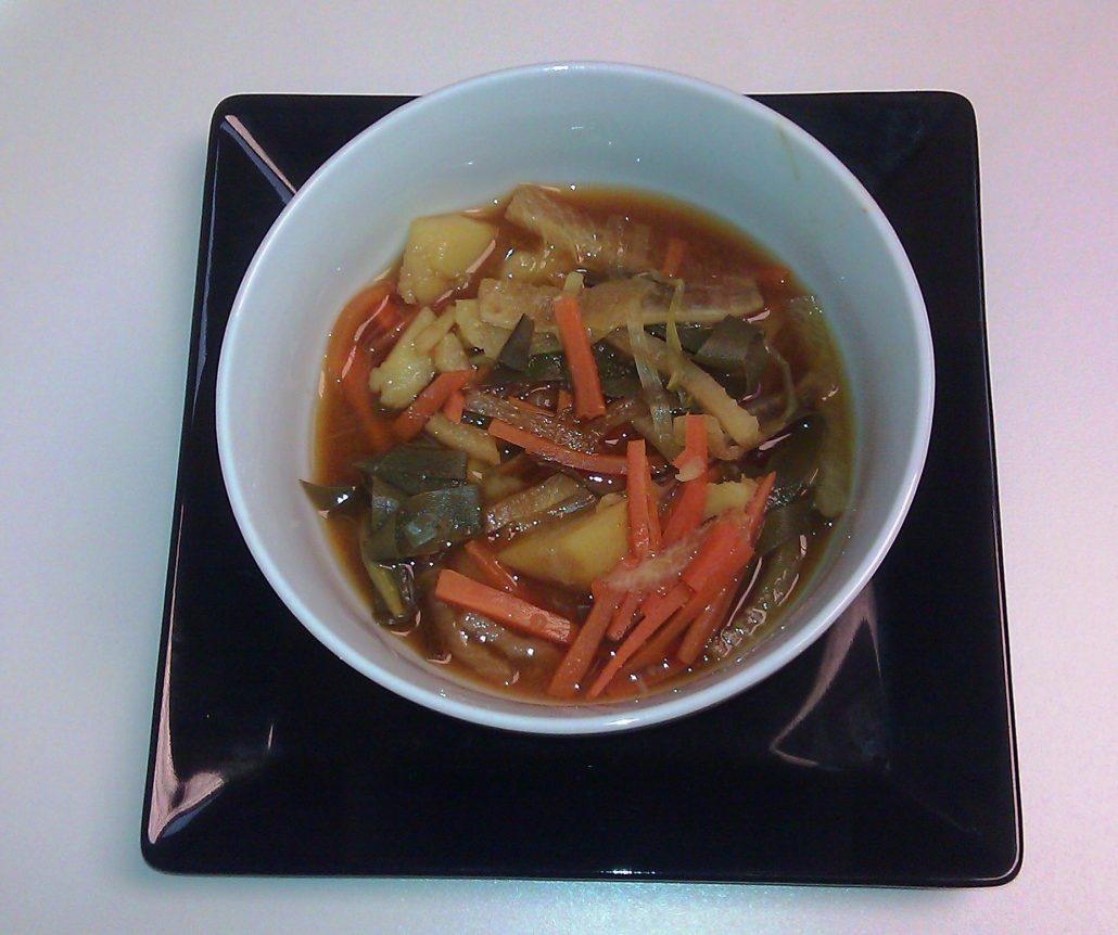 Sopa de miso con algas