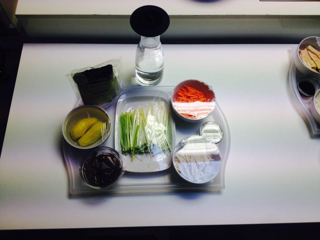 Ingredientes sopa miso y algas